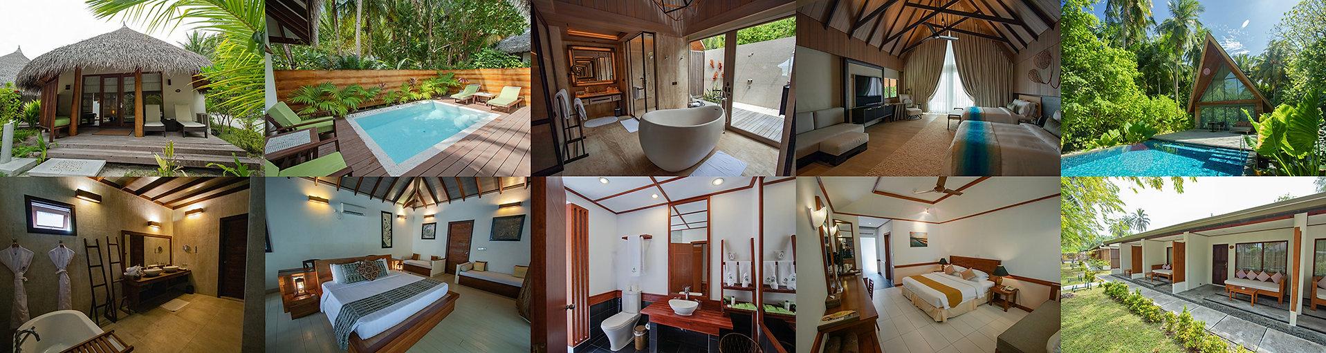 Zahrdní vily, zahradní bungalovy, Maledivy