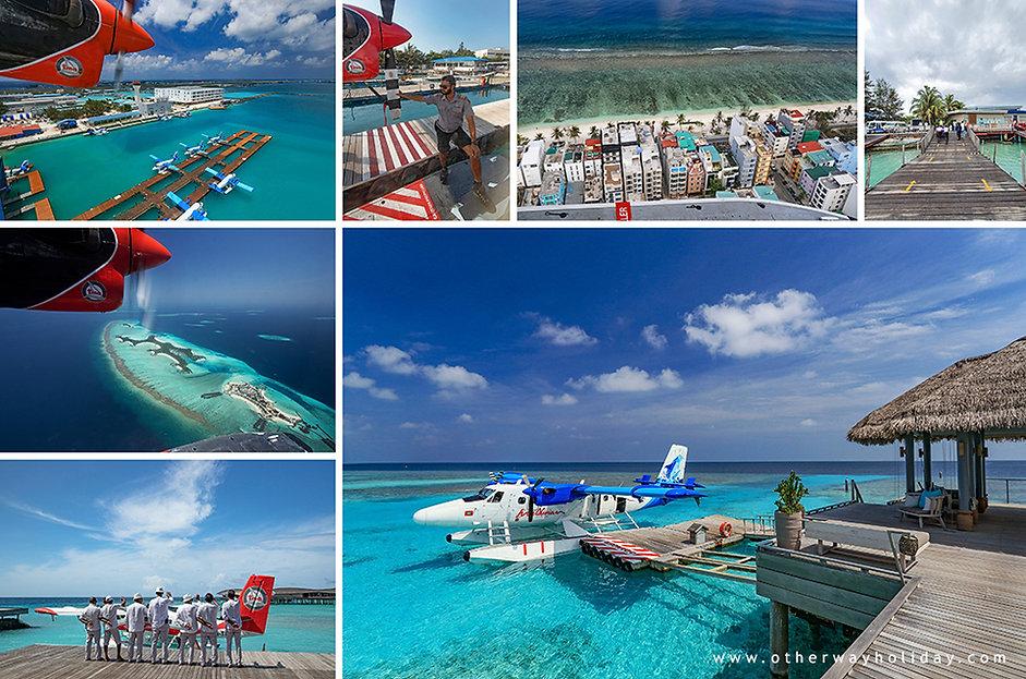 Odlet z resortu, průběh letu a přistání na letišti Velana na Maledivách.jpg