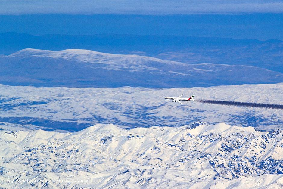 Turecko, let z Dubaje do Prahy, cesta z Malediv