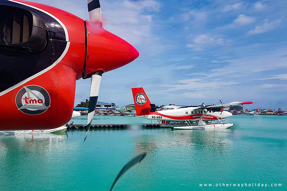 Pronájem hydroplánu na Maledivách