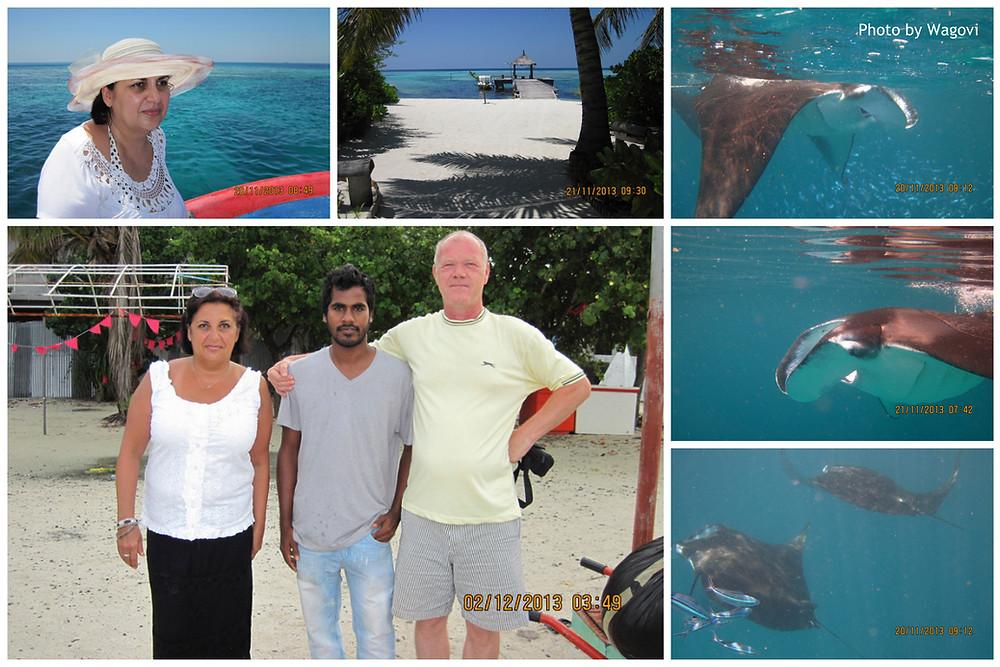Šnorchlování s mantou, Guraidhoo, Maledivy