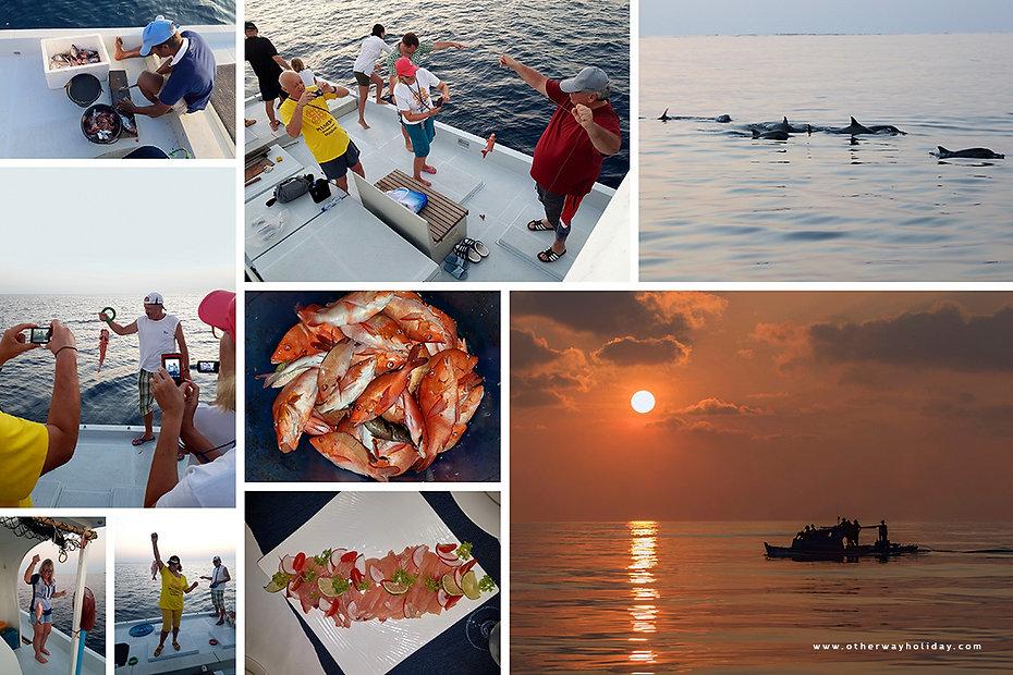 Rybolov na Vaavu atolu na Maledivách