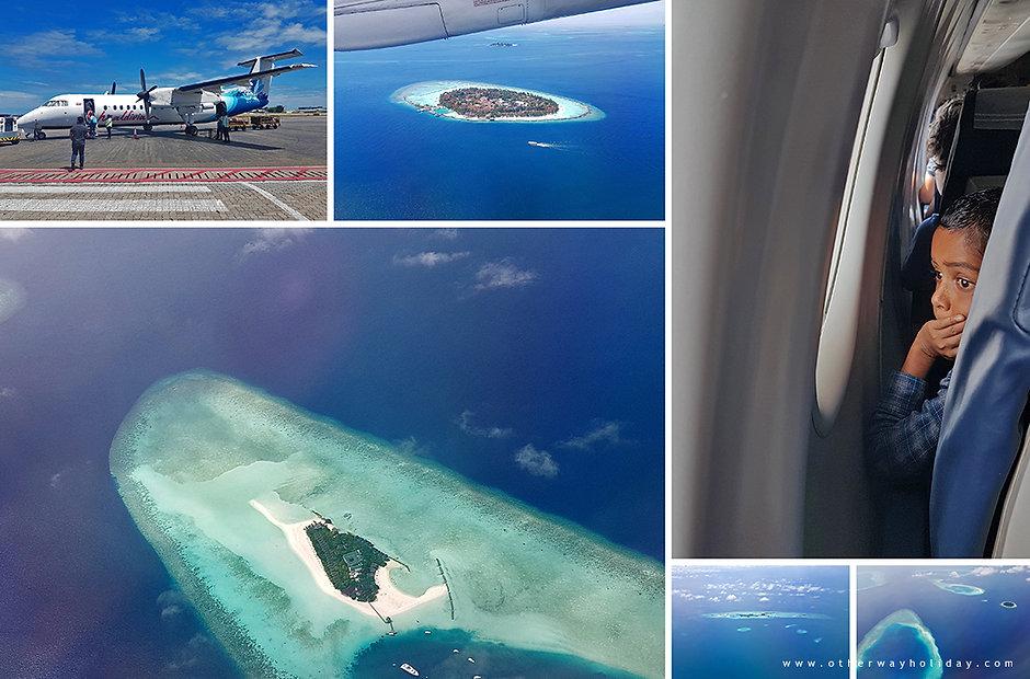 Let z Male na Hanimadhoo, Haa Dhaalu atol, Maledivy.
