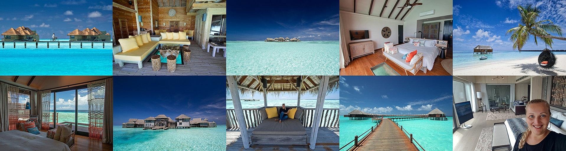 Vodní vily, vodní bungalovy, Maledivy