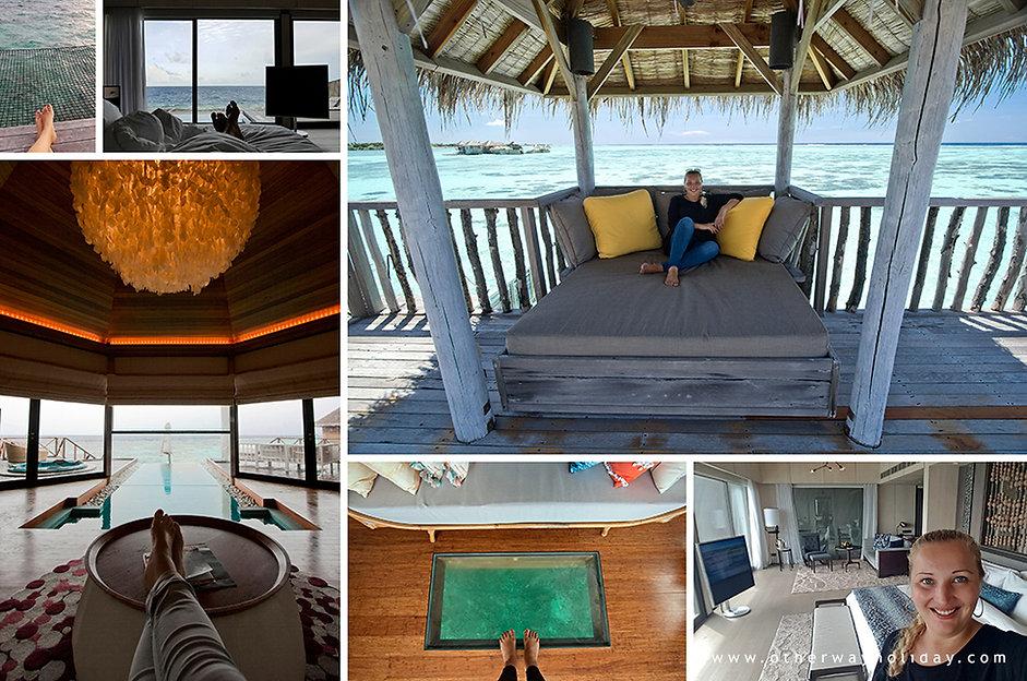 Lucie Mohelníková, vodní vily, Maledivy