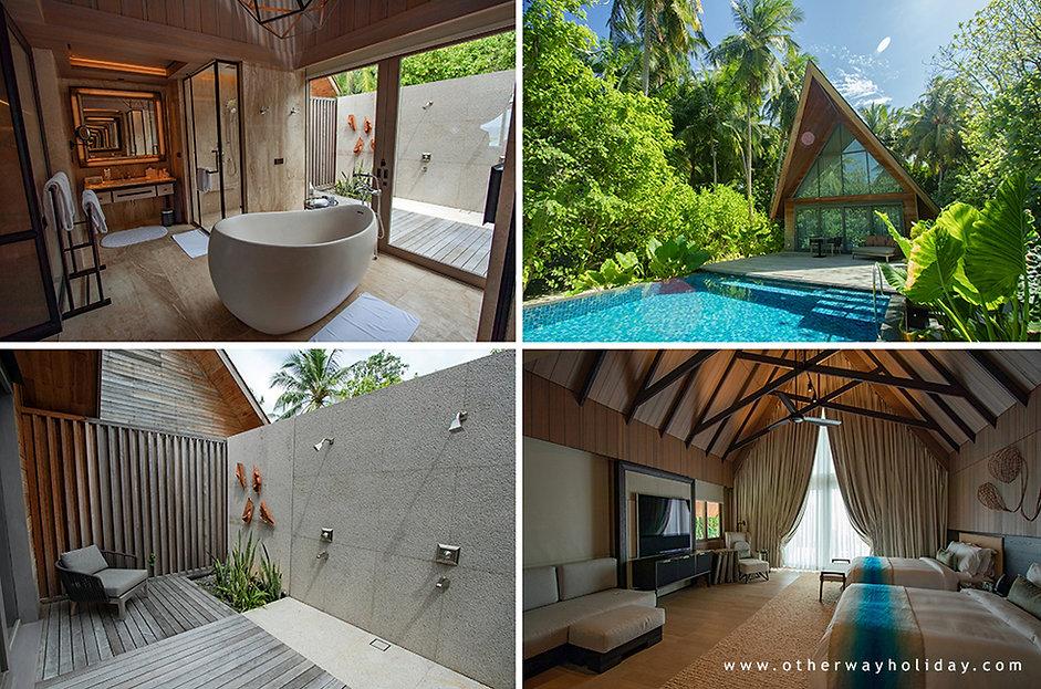 Zahradní vila s bazénem, St. Regis Vommuli, Maledivy