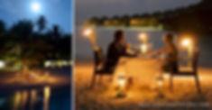 Vakarufalhi, romantická večeře na pláži