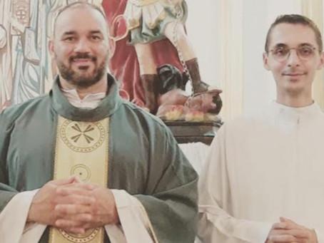 Seminarista em pré-estágio pastoral em Nova Ponte