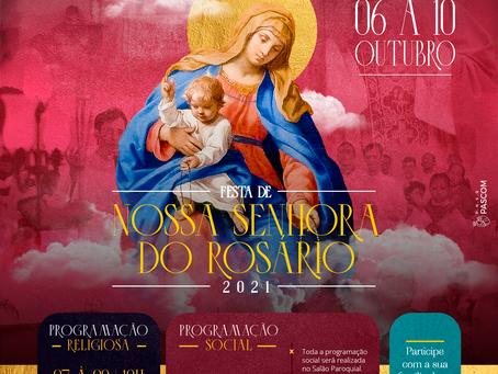 Paróquia Nossa Senhora do Rosário celebra sua padroeira