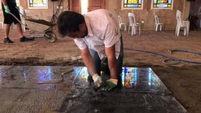 Paróquia de Santa Bárbara instala piso