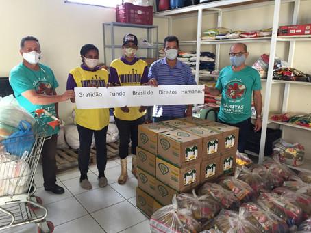 A Cáritas Arquidiocesana de Uberaba distribuiu 72 cestas