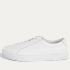 White Leather Sneaker - New Republic