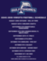 Gulf Shores Dolphin Football Schedule