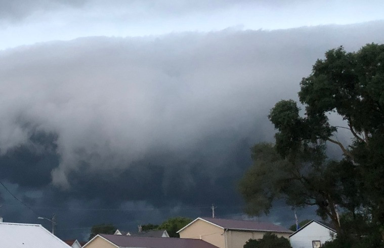 The evening storm front
