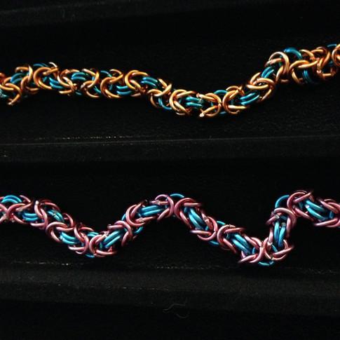 Chainmail Byzantine weave Bracelets