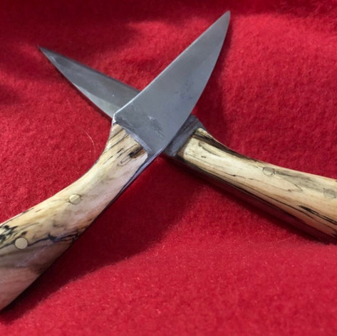 Hand Forged knives with Magnolia handles