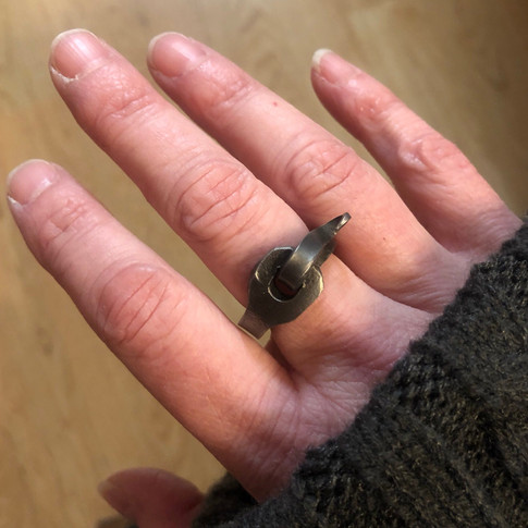 Hand Forged Hook & Eye ring