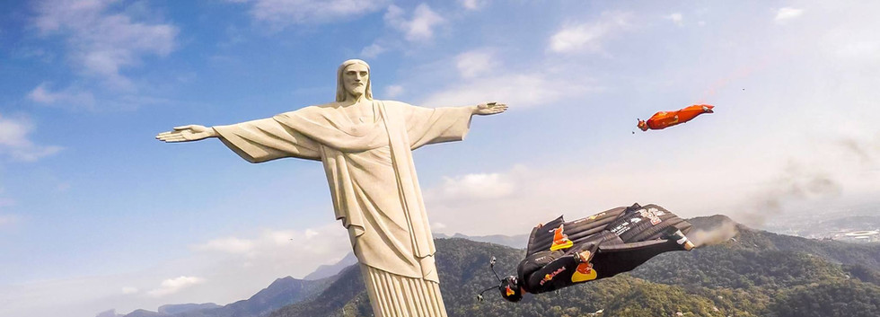 Flying by the Christ Statue, Rio - Brazil
