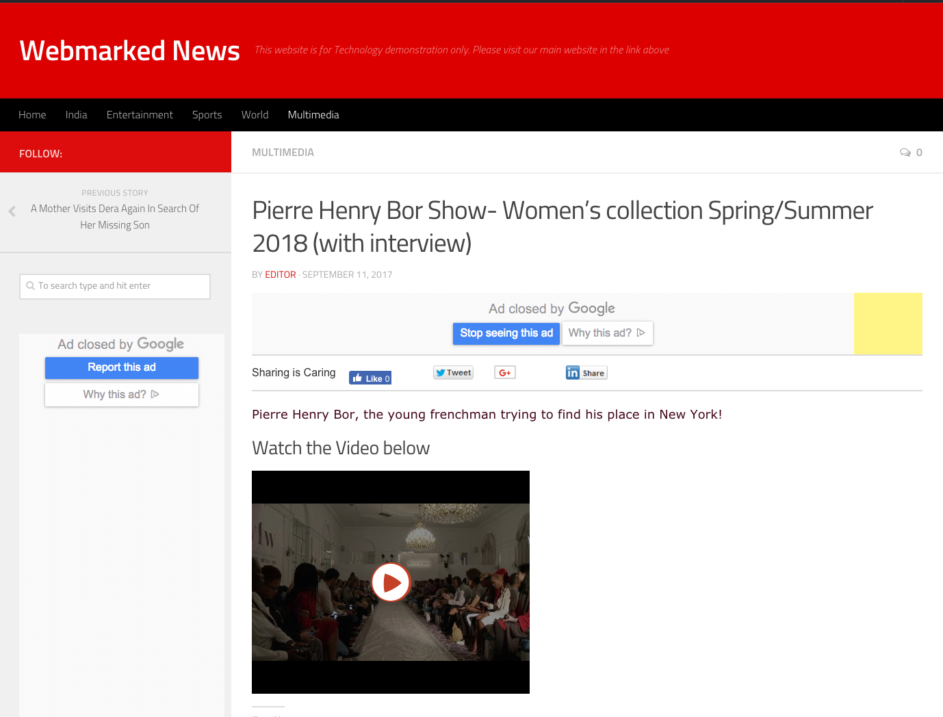 Webmarked News