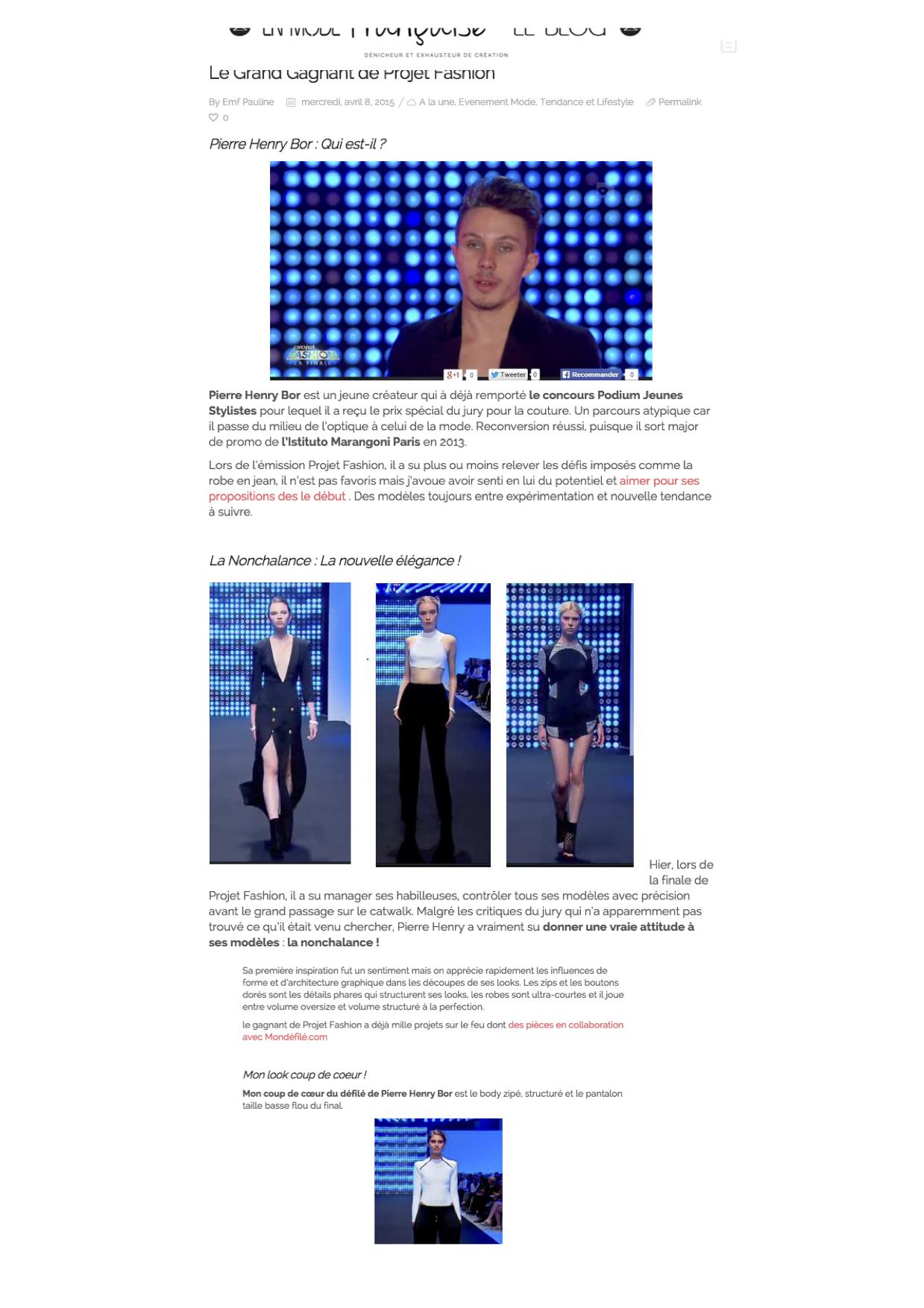 Blog En mode Française