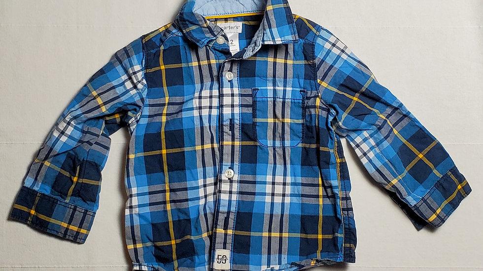 camisa m.largaazul con rayas amarillas, negras y blancas