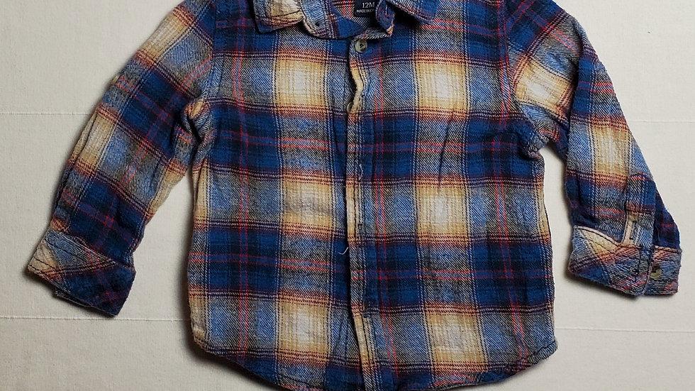 camisa m.largacuadros azules, rojos y blancos