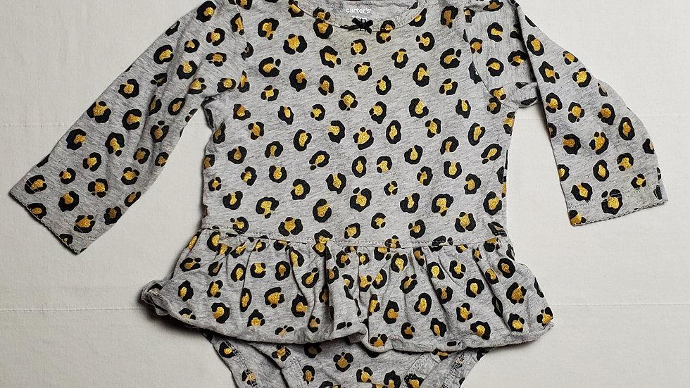 pañalero animal print negro/dorado