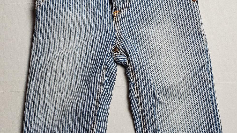 pantaloncitoazul jeans con rayas blancas