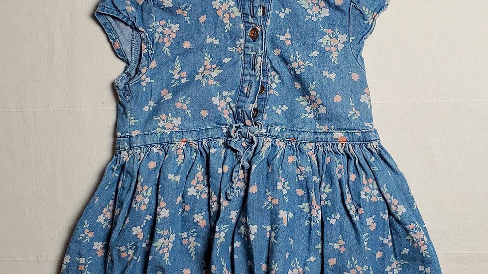 vestidomezclilla azul con flores