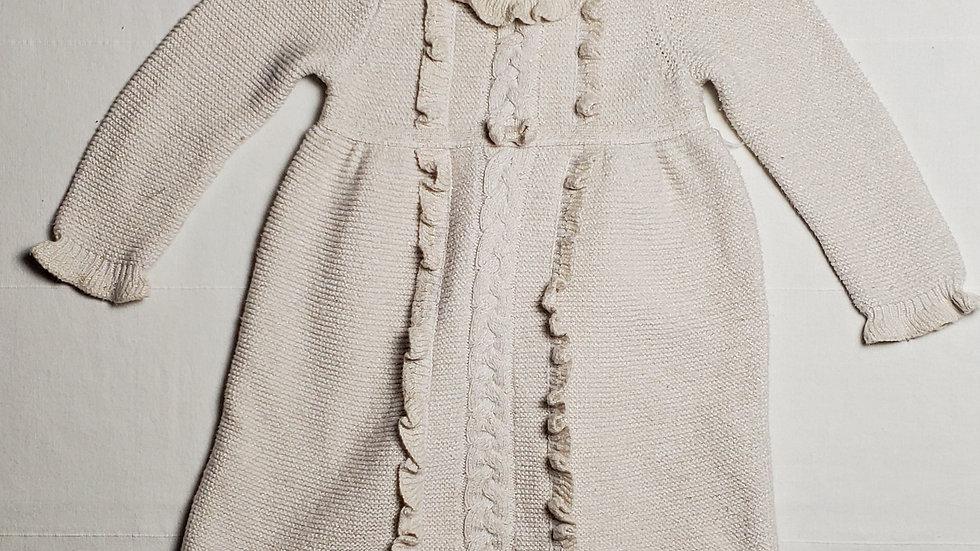 vestidotipo sueter beige con hilos brillantes