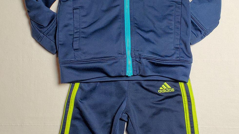 Conjunto chamarra y pants- azul/verde fosfo