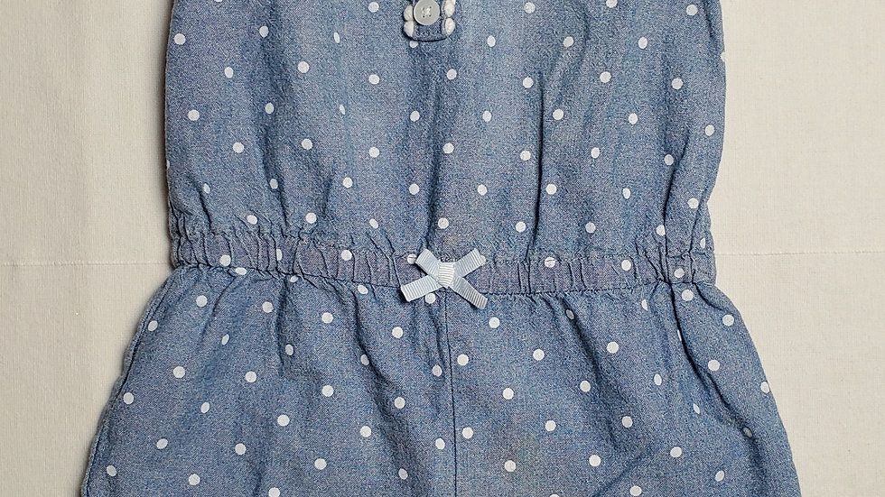 jumpsuit azul con puntos blancos