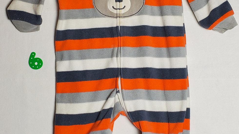 mamelucorayas blancas, grises y naranjas con figura de osito