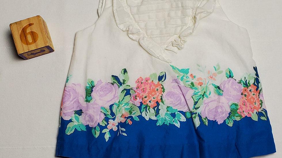 blusitablanca con azul y flores