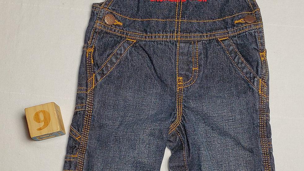oberolazul jeans con letras rojas y blancas