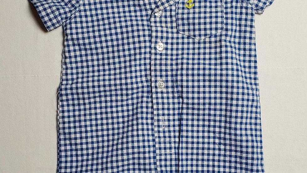 Pañalero/short cuadros blanco/ azul
