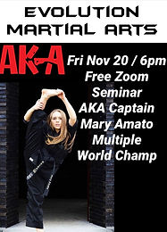 FREE Seminar with World Champ Mary Amato!