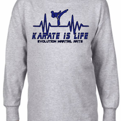 """Karate is Life"" Long sleeve"