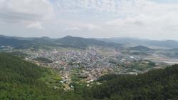 북산에서본 진도읍