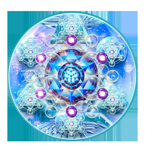 Sceau Star Tetrahedron autocollant Starcodes Ø 5 cm