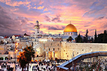 Israel_Houses_Temples_Evening_Jerusalem_