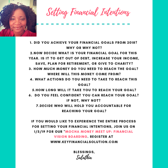 Setting Your Financial Intentions for 2019
