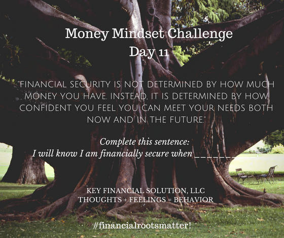 """Money Mindset Challenge Day 11: """"Financial Security"""""""