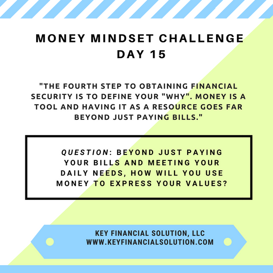 "Money Mindset Challenge Day 15: ""What's Your Why?"""