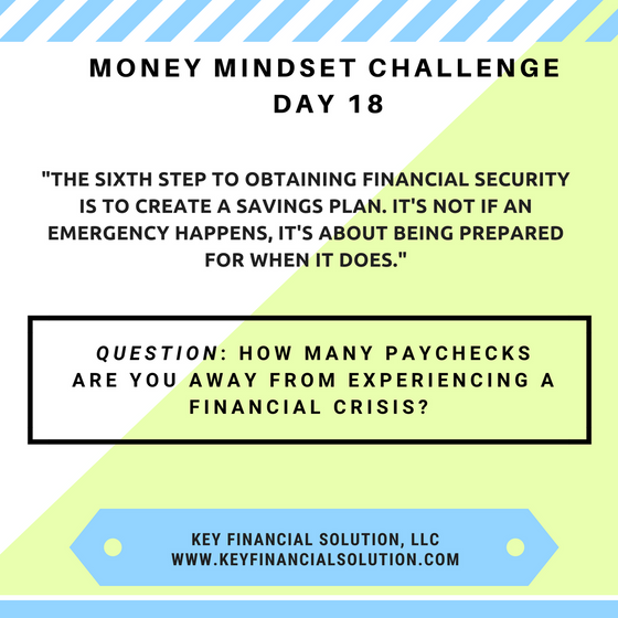 "Money Mindset Challenge Day 18: ""Savings"""