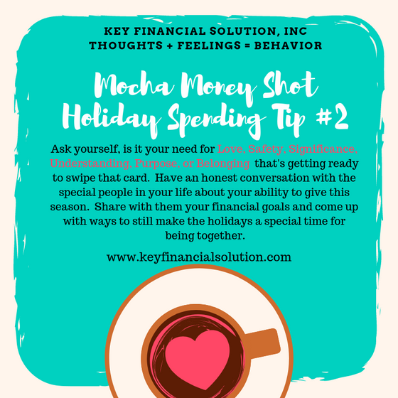 Mocha Money Shot: Holiday Spending Tip #2