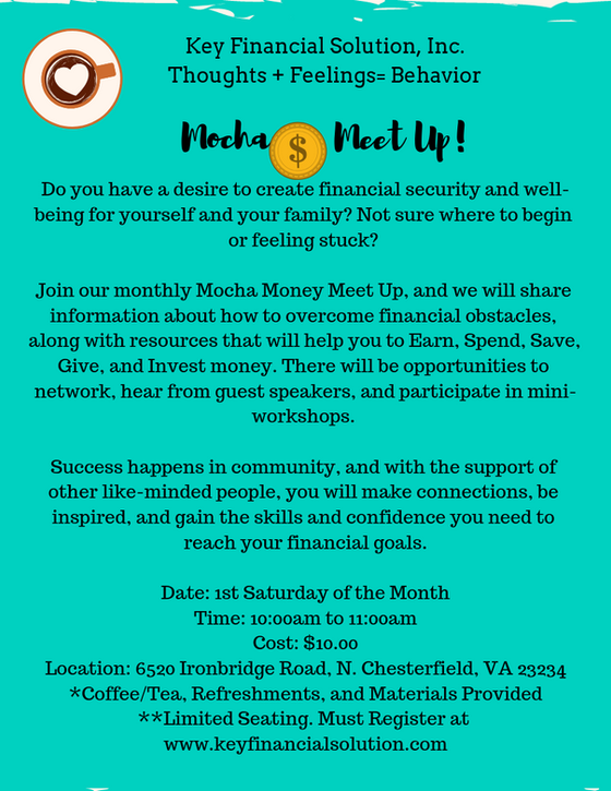 Join our Mocha Money Meet Up!