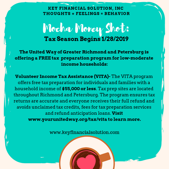 Free Tax Preparation Resource for Income Eligible Households in Greater Richmond and Petersburg