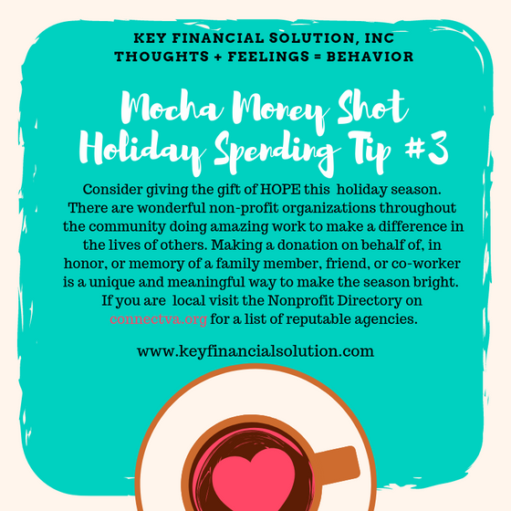 Mocha Money Shot: Holiday Spending Tip # 3