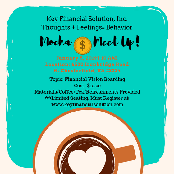 Mocha Money Meet Up!- January 5th 2019: Financial Vision Boarding